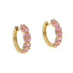 'Valda' Crystal Mini Hoops