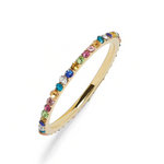 'Dalis' Micro Crystal Eternity Ring