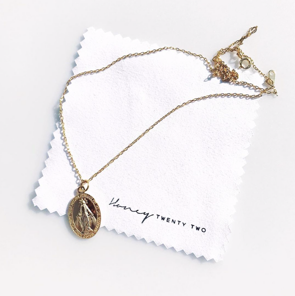 'Virgin Mary' Coin Necklace