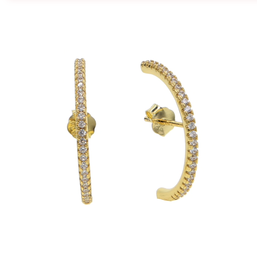'Henley' Crystal Cuff Earrings