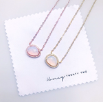 'Macey' Crystal Moonstone Necklace
