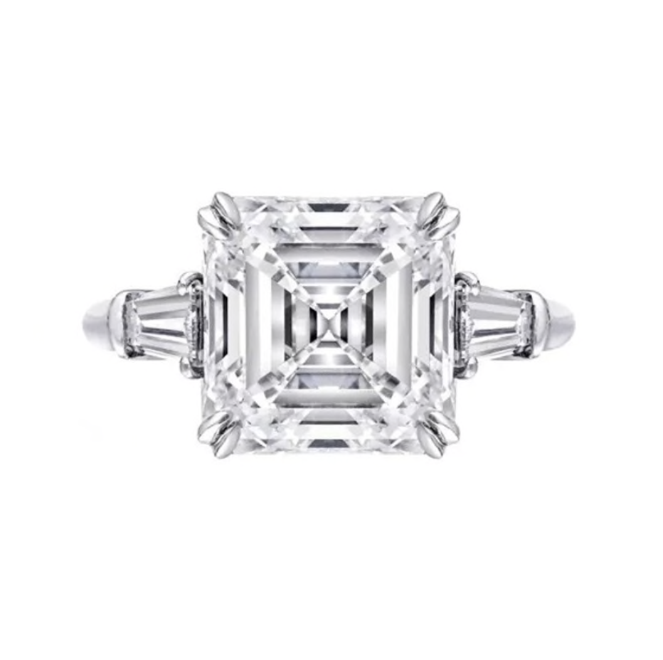 'Octavia' Asscher-Cut Crystal Ring