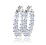 'Sophia' Princess Crystal Hoops