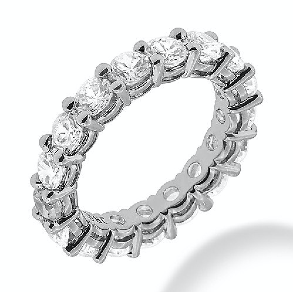 'Gemma' Round Eternity Crystal Ring
