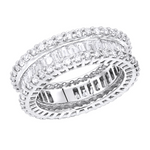 'Tavia' Triple Row Eternity Ring