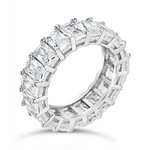 'Tatianna' Emerald Cut Eternity Ring