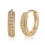'Tammy' Crystal Pave Mini Hoops