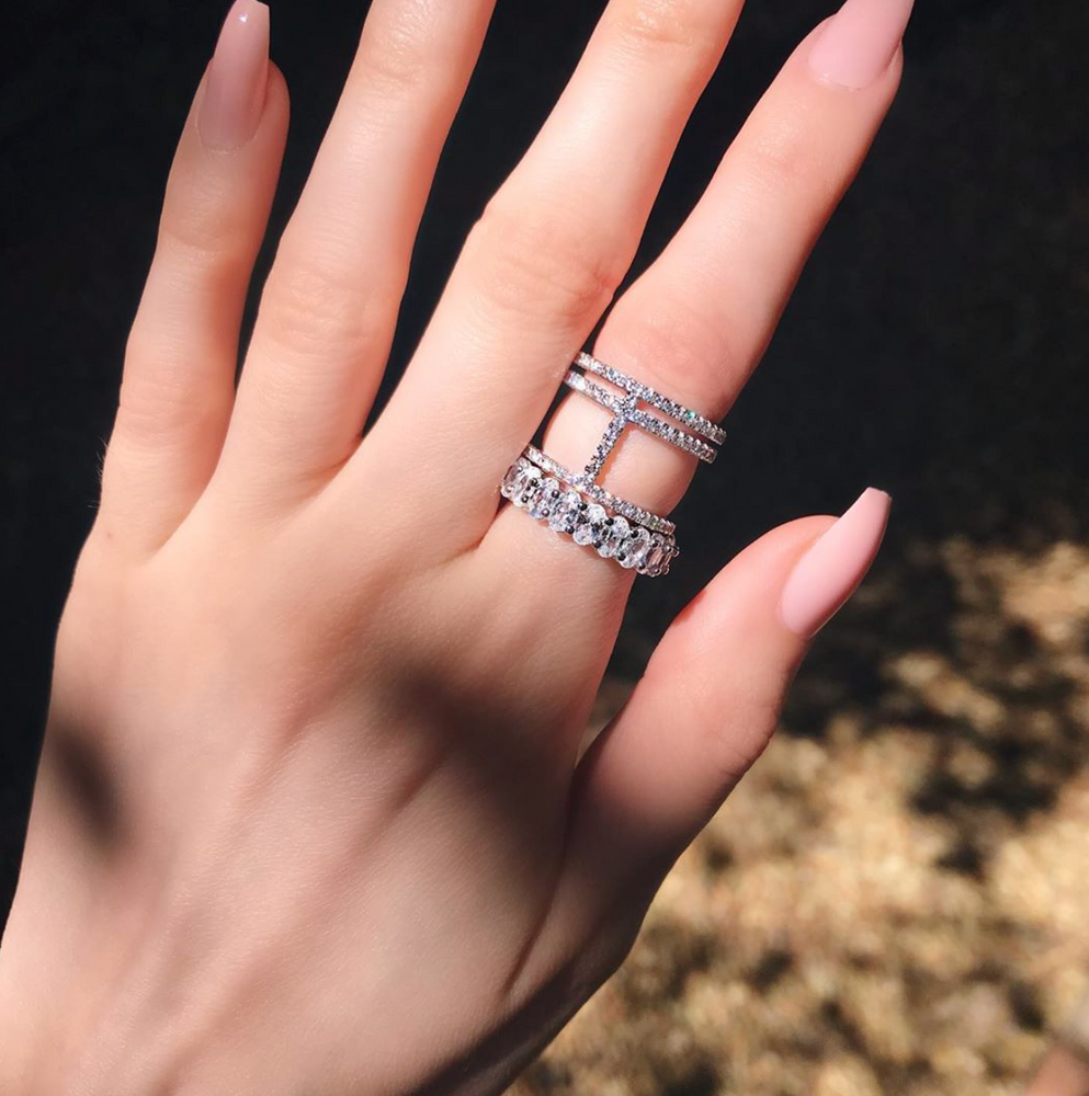 'Briella' Crystal Bar Ring
