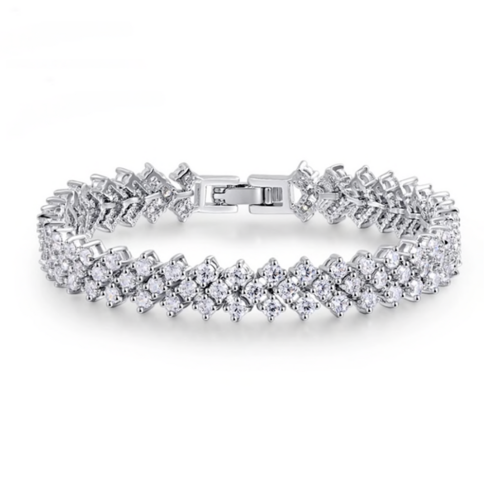'Carlita' Triple Row Tennis Bracelet