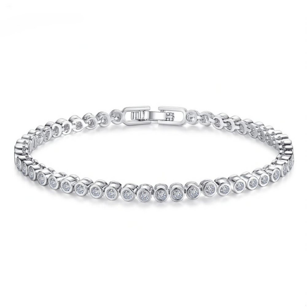 'Evelyn' Round Tennis Bracelet