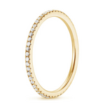 'Imara' Golden Micro Crystal Eternity Ring