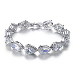 'Etienne' Pear Cut Tennis Bracelet