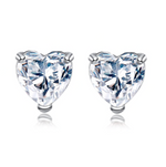 'Mara' Heart Crystal Stud Earrings