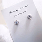 'Paris' Brilliant Halo Studs