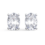 'Erina' Oval Crystal Stud Earrings