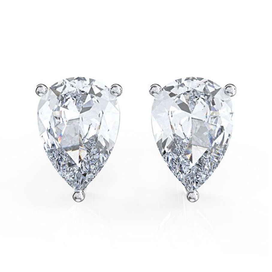 'Morgan' Pear Crystal Stud Earrings