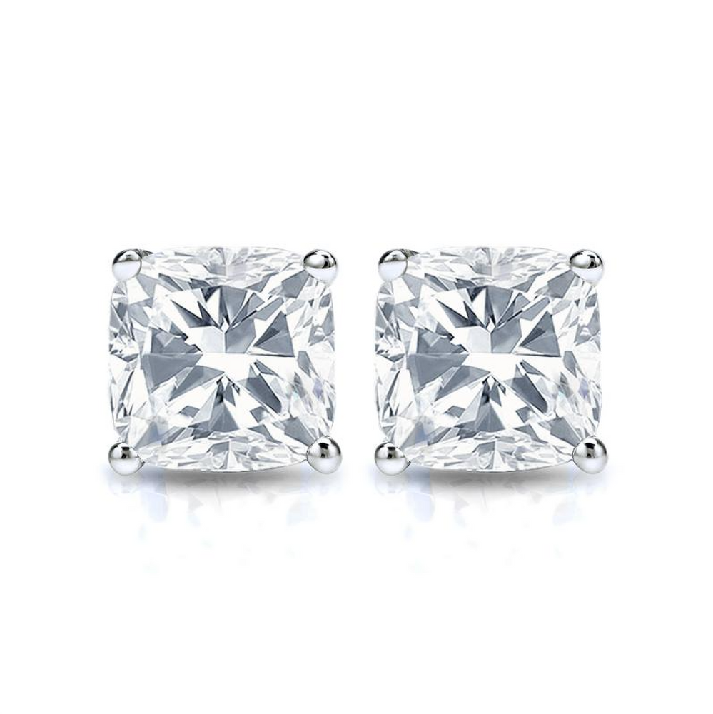 'Marlena' Cushion Crystal Stud Earrings