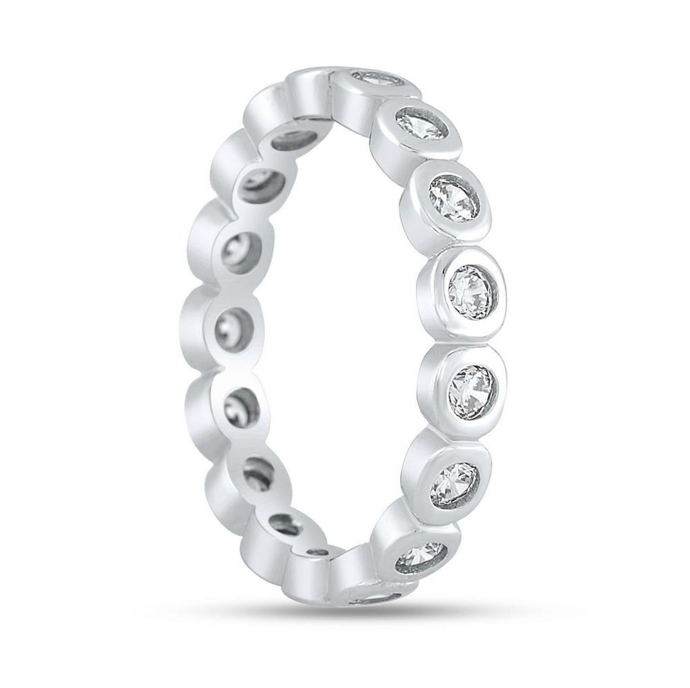 'Adrienne' Round Crystal Eternity Ring