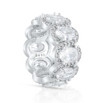 'Alena' Crystal Halo Eternity Ring