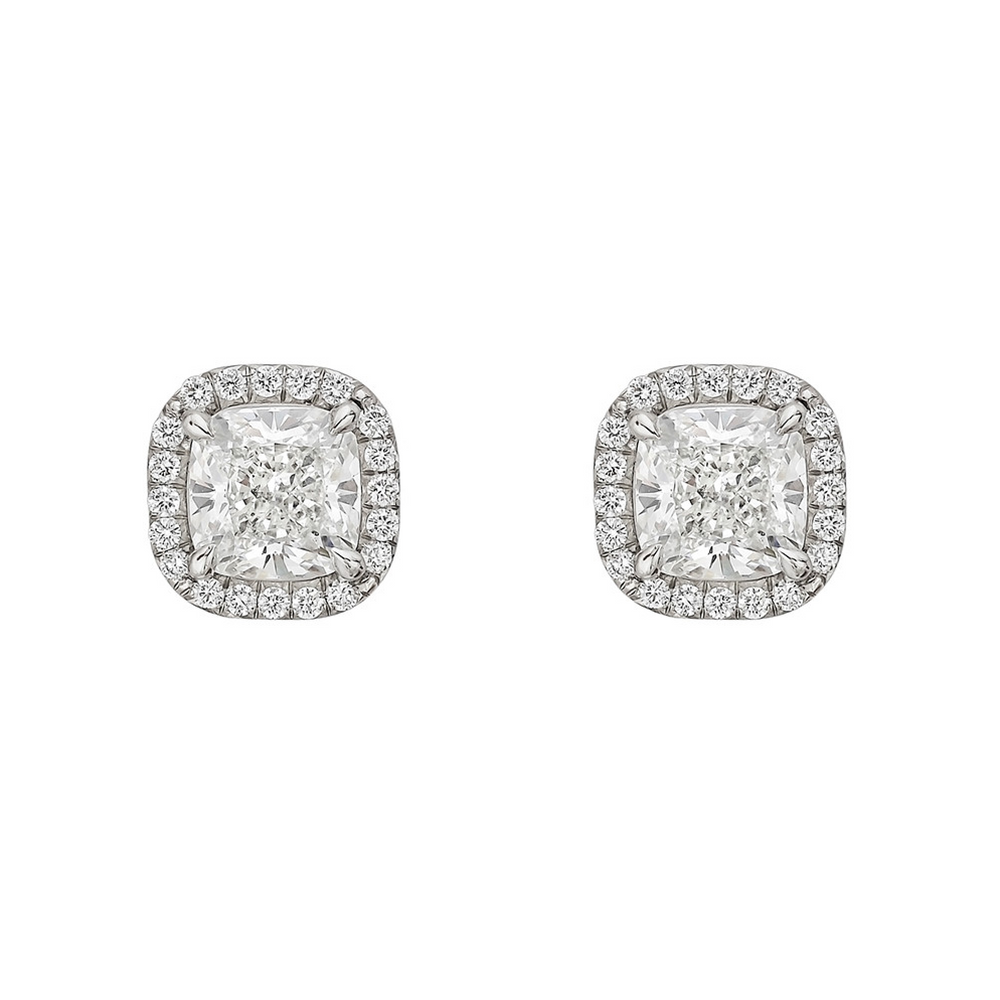 'Teagan' Mini Cushion Crystal Earrings