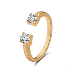 'Gisele' Open Crystal Ring