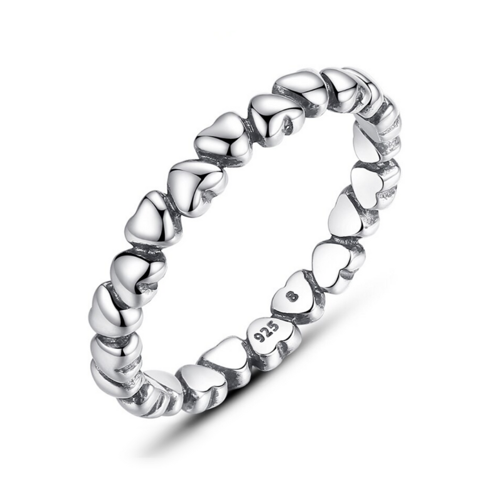 'Lorella' Endless Hearts Ring