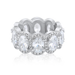 'Alena' Halo Oval Cut Eternity Ring