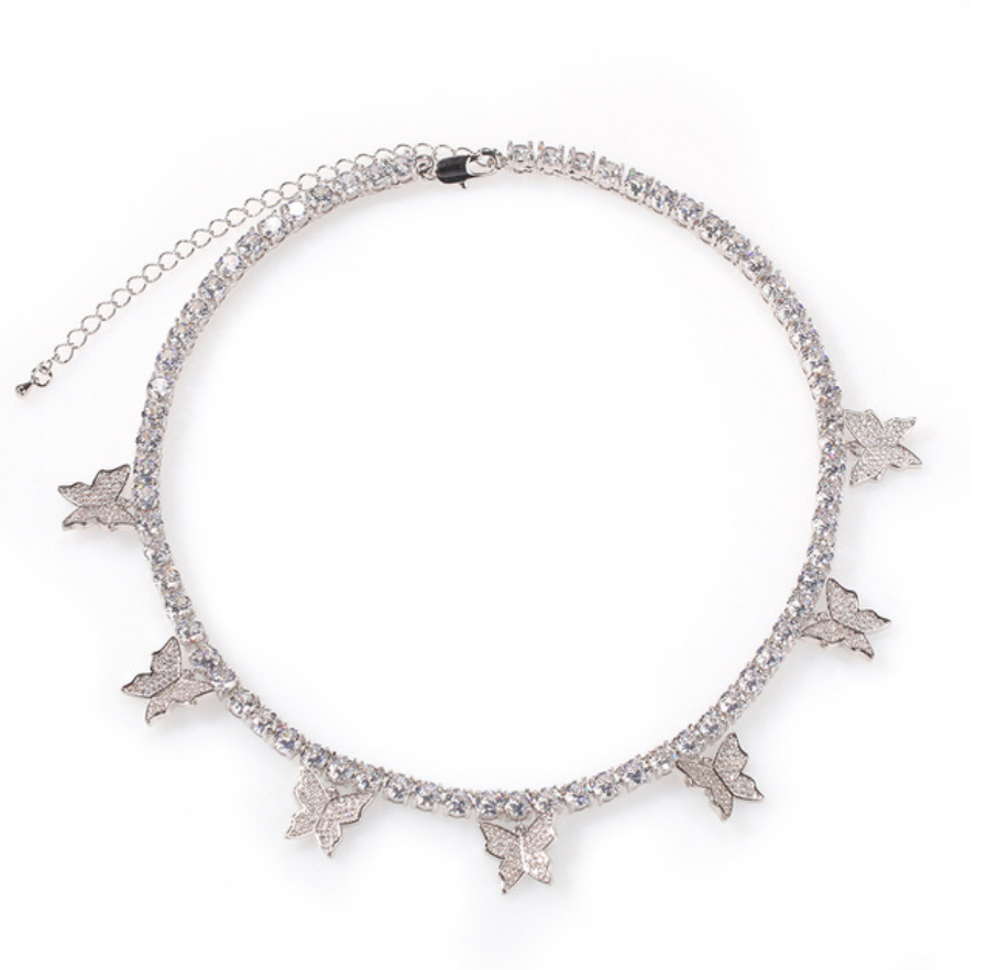 'Shira' Butterfly Tennis Necklace