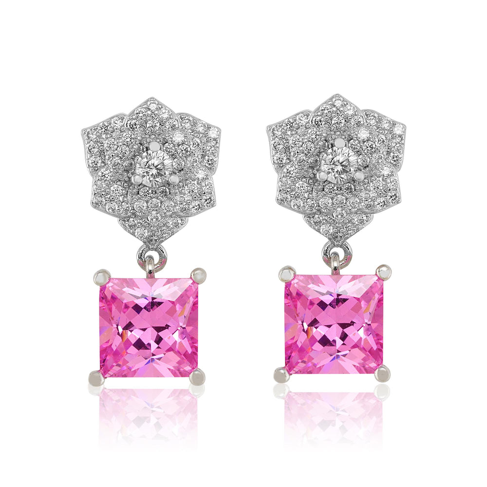 'Carolina' Princess Rose Crystal Earrings