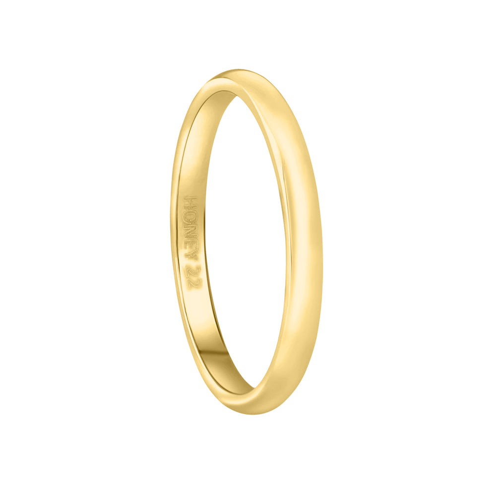 'Elisa' Classic Essential Ring - Gold