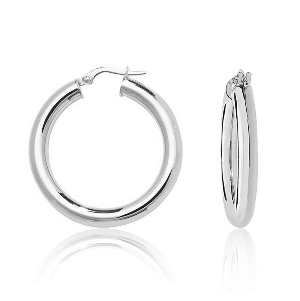 'Janna' Classic Thick Hoops - 30mm