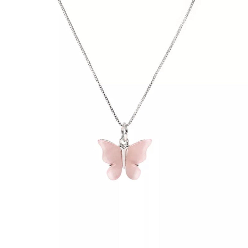 'Liv' Butterfly Stone Necklace