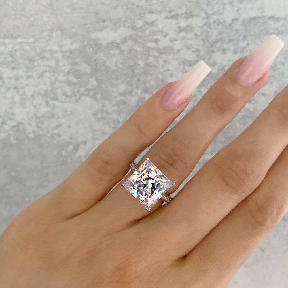 'Blair' Princess-Cut Crystal Ring