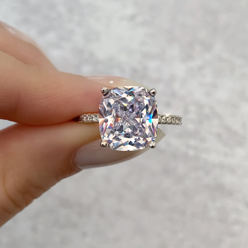 'Jordana' Cushion-Cut Crystal Ring