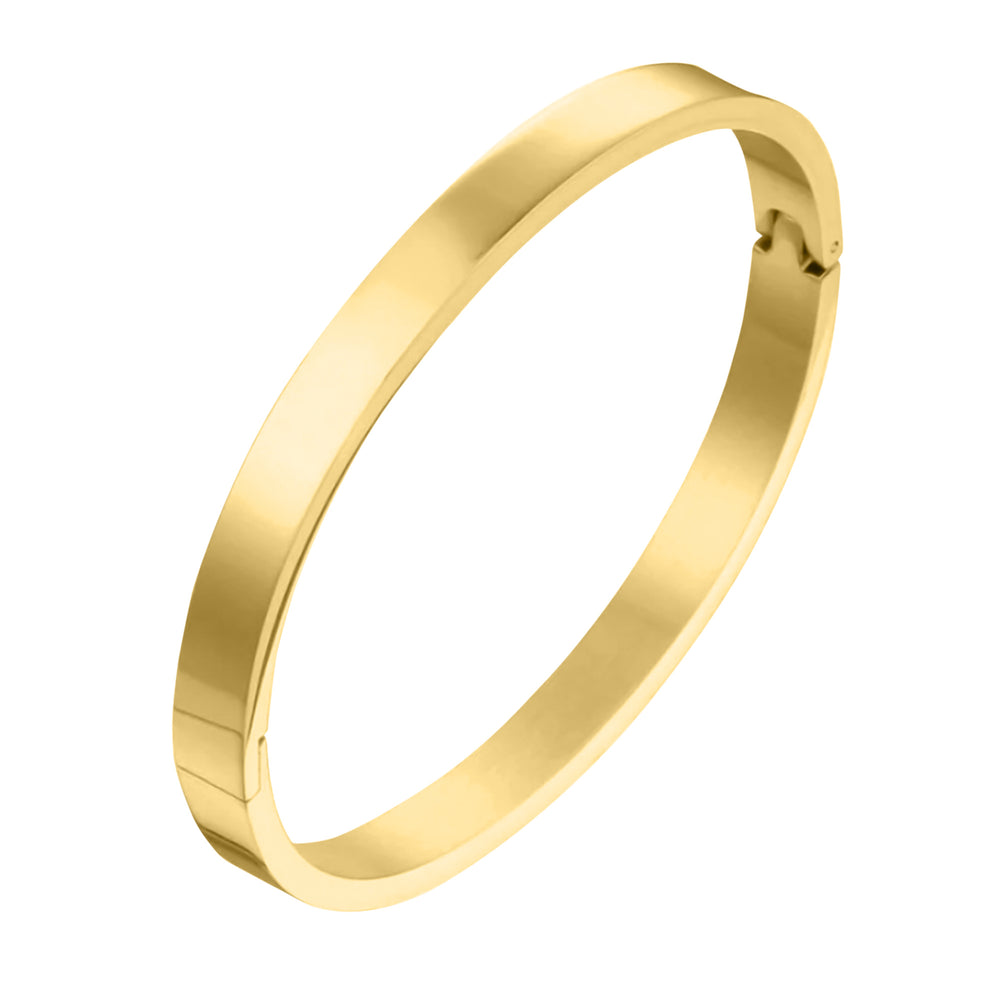 'Amelie' Classic Smooth Bangle - Gold