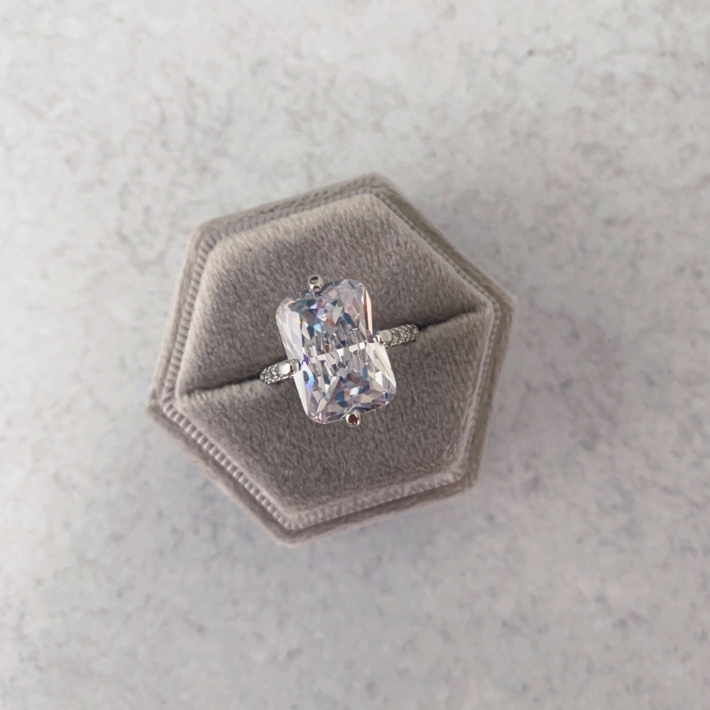'Liana' Mega Cushion-Cut Crystal Ring