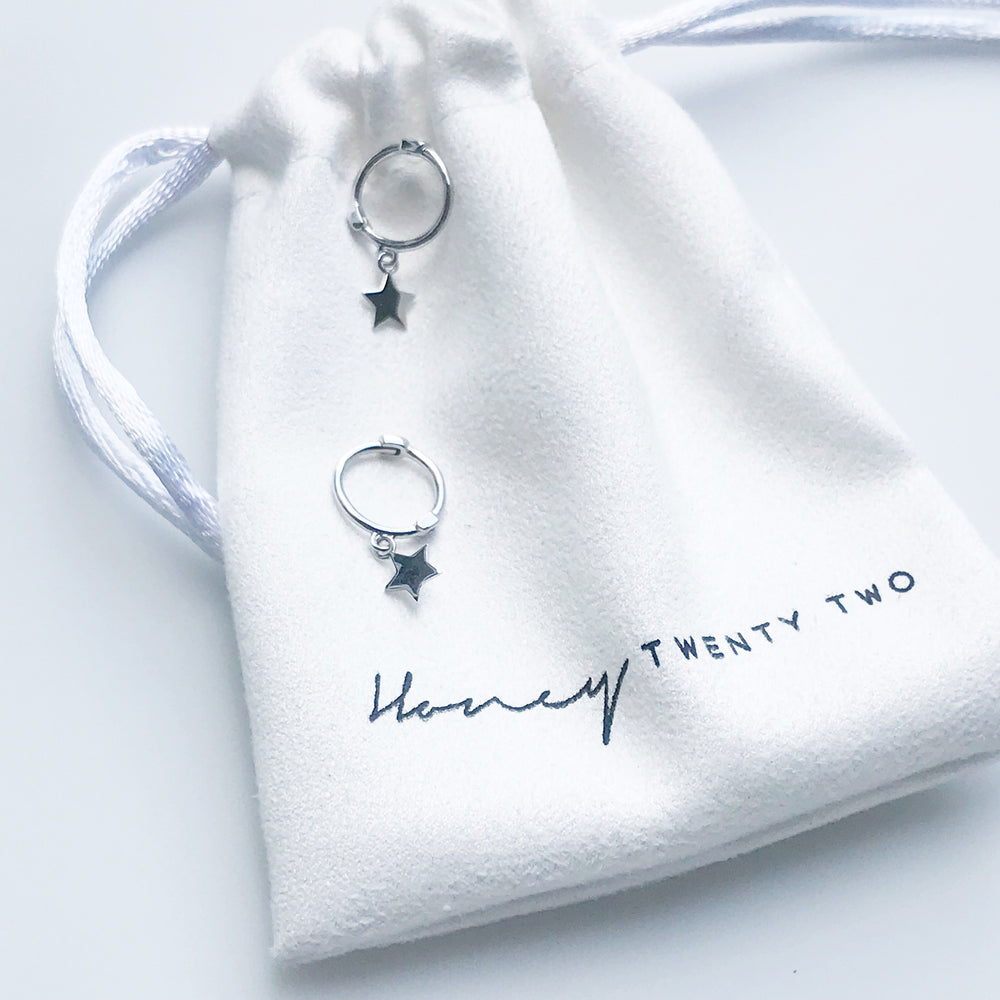 'Lauren' Star Micro-Hoop Earrings - Honey Twenty Two