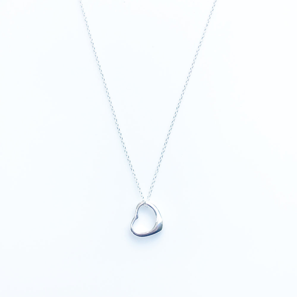 'Ava' Open Heart Necklace - Honey Twenty Two