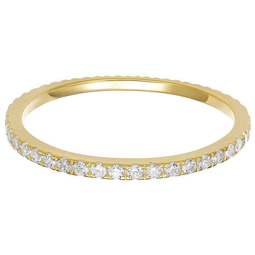 'Nicole' Micro Crystal Eternity Ring - Gold