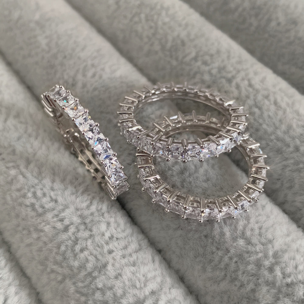 'Irina' Princess Cut Eternity Ring