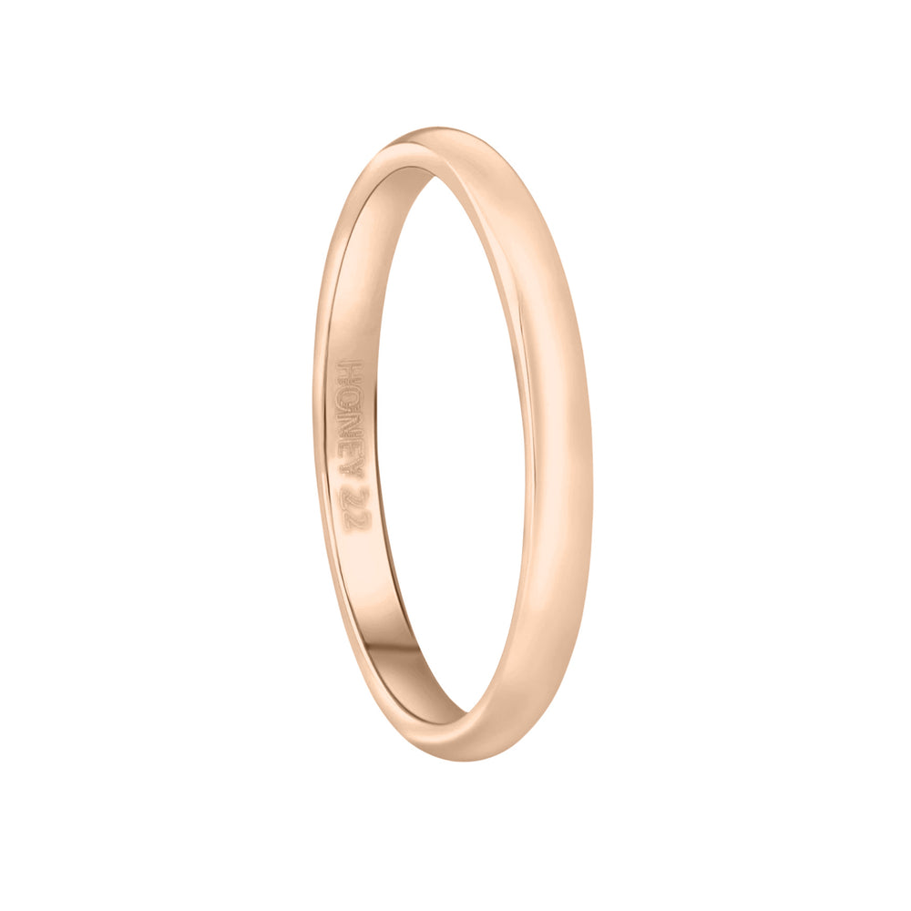 'Elisa' Classic Essential Ring - Rose Gold