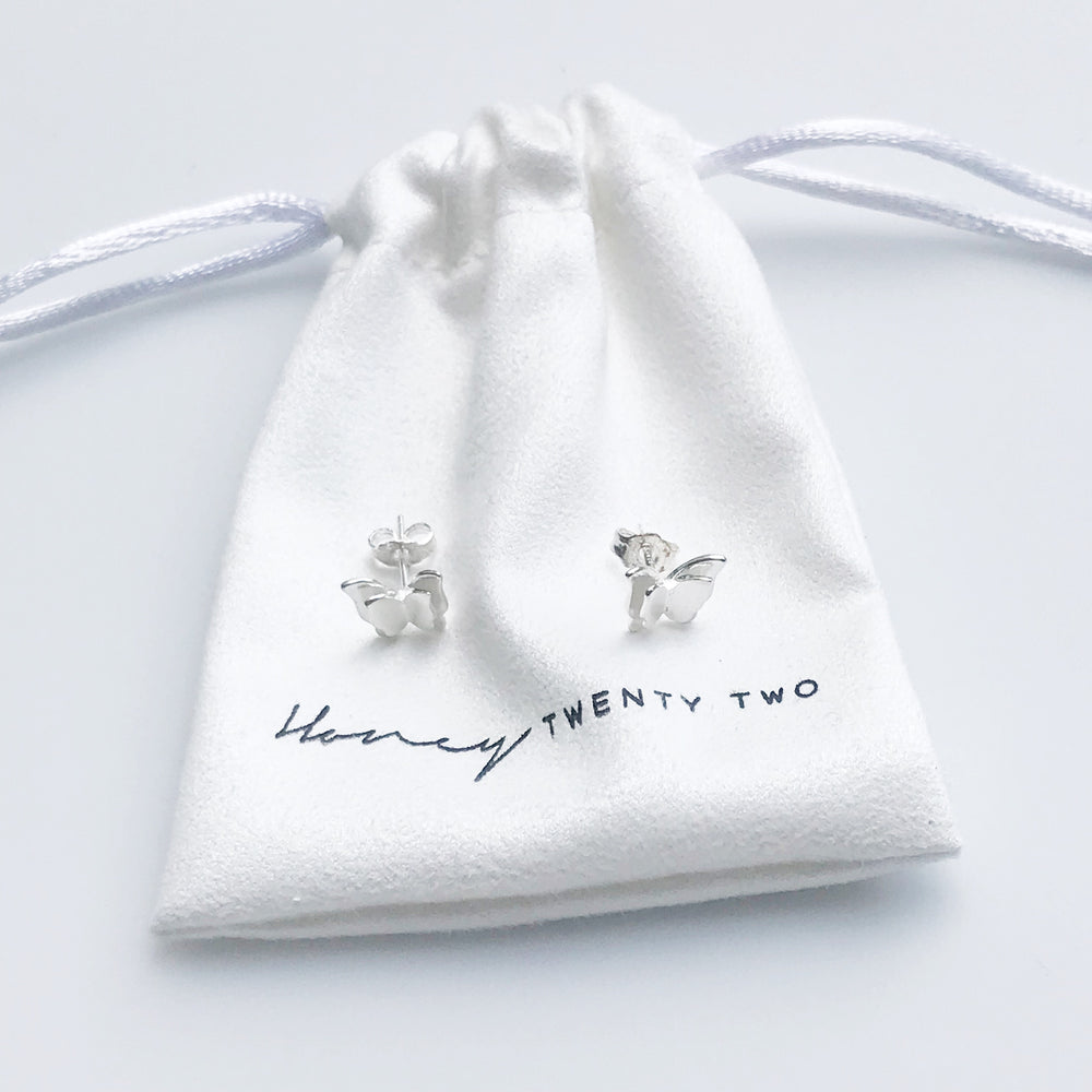 'Harlow' Butterfly Earrings - Honey Twenty Two