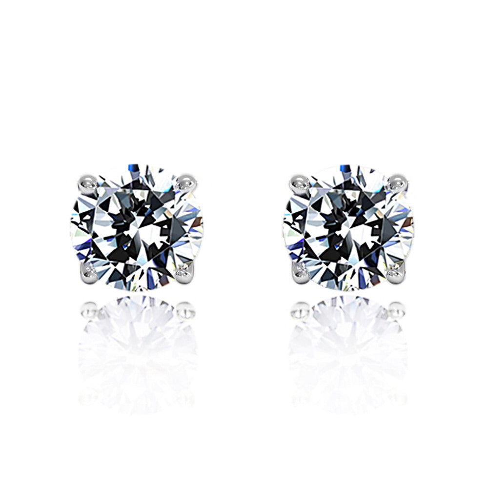 'Dessa' Round Crystal Stud Earrings