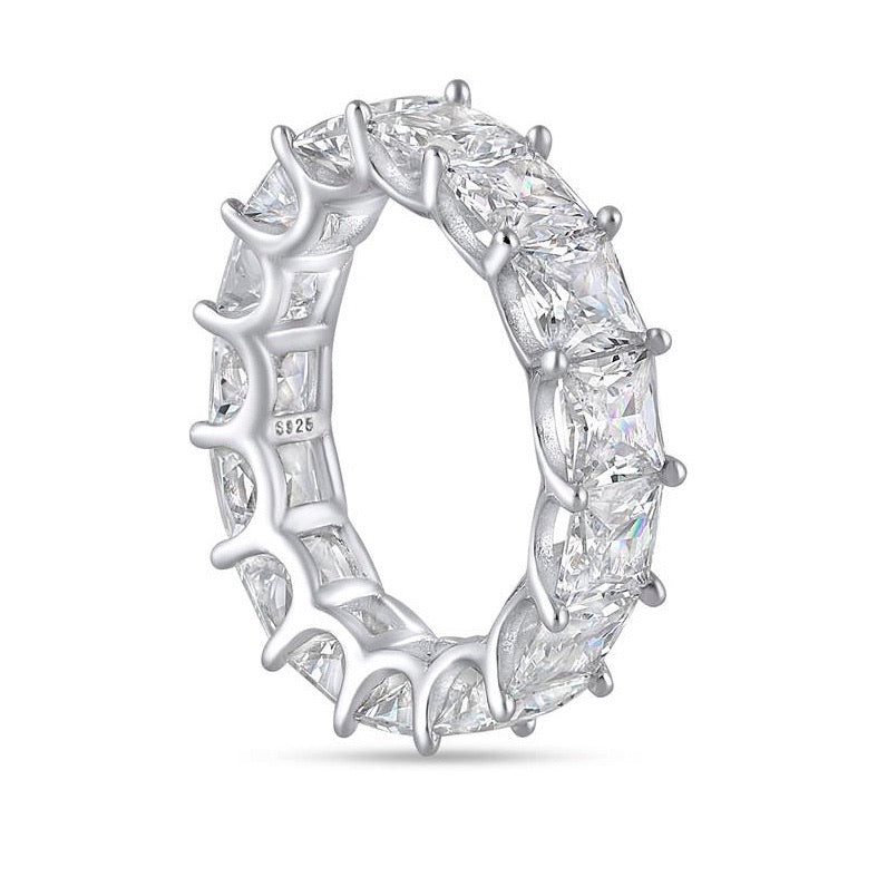 'Augustina' Princess Cut Eternity Ring