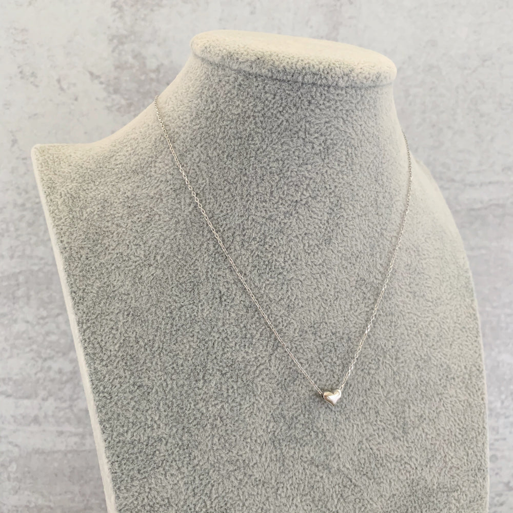 'Gia' Micro-Pendant Heart Necklace