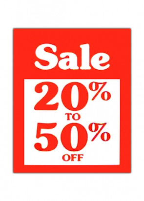 20% To 50% OFF Sign