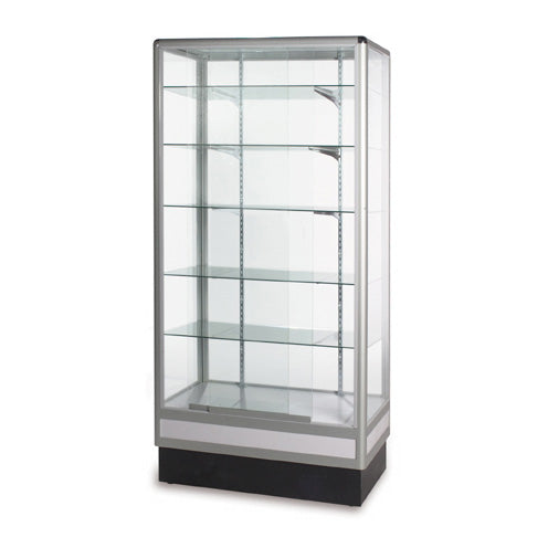 Full Vision Glass Enclosed Wall Showcase