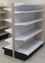 Used Add-On Aisle Gondola Shelving