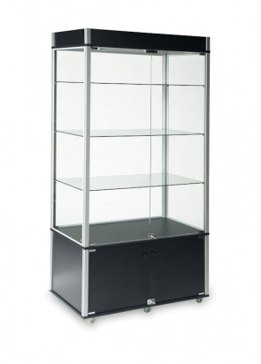 Glass Wallcase With Storage