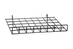 Slanted Gridwall & Slatwall Shelf